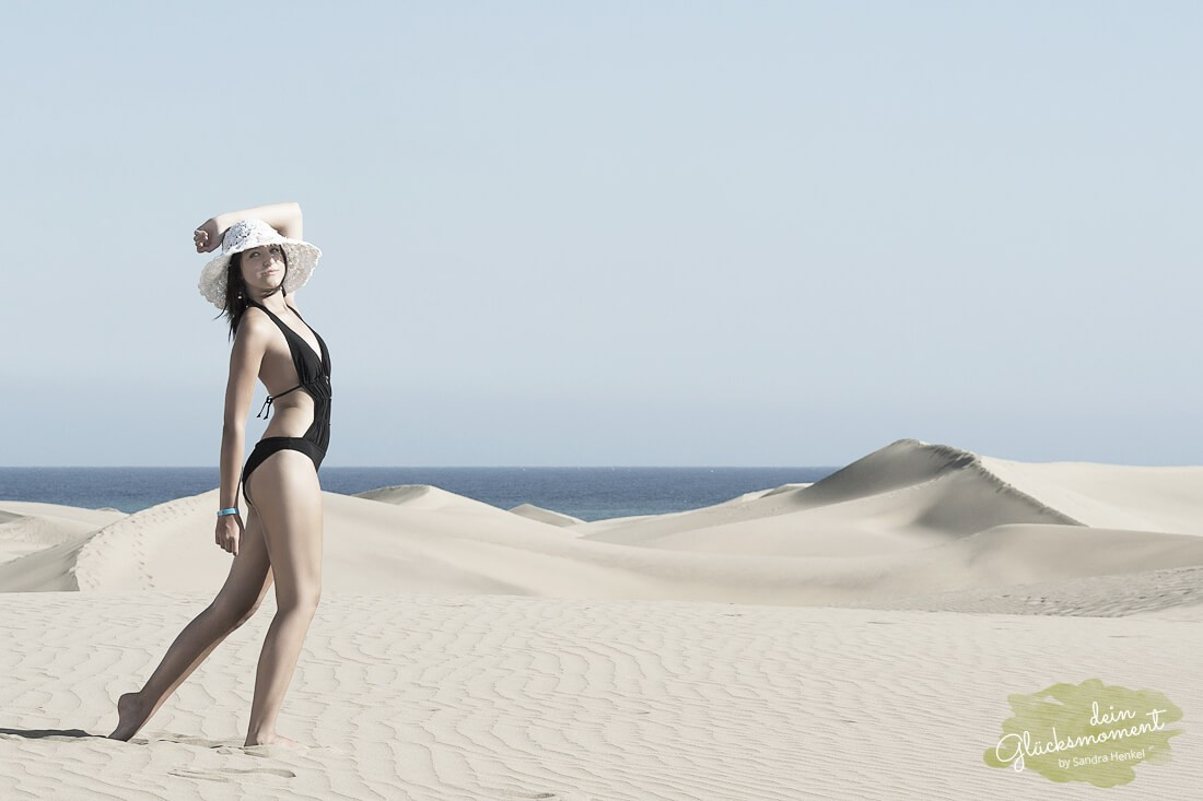 Nachwuchsmodell Shooting - Fashion  - Barranco Dünen