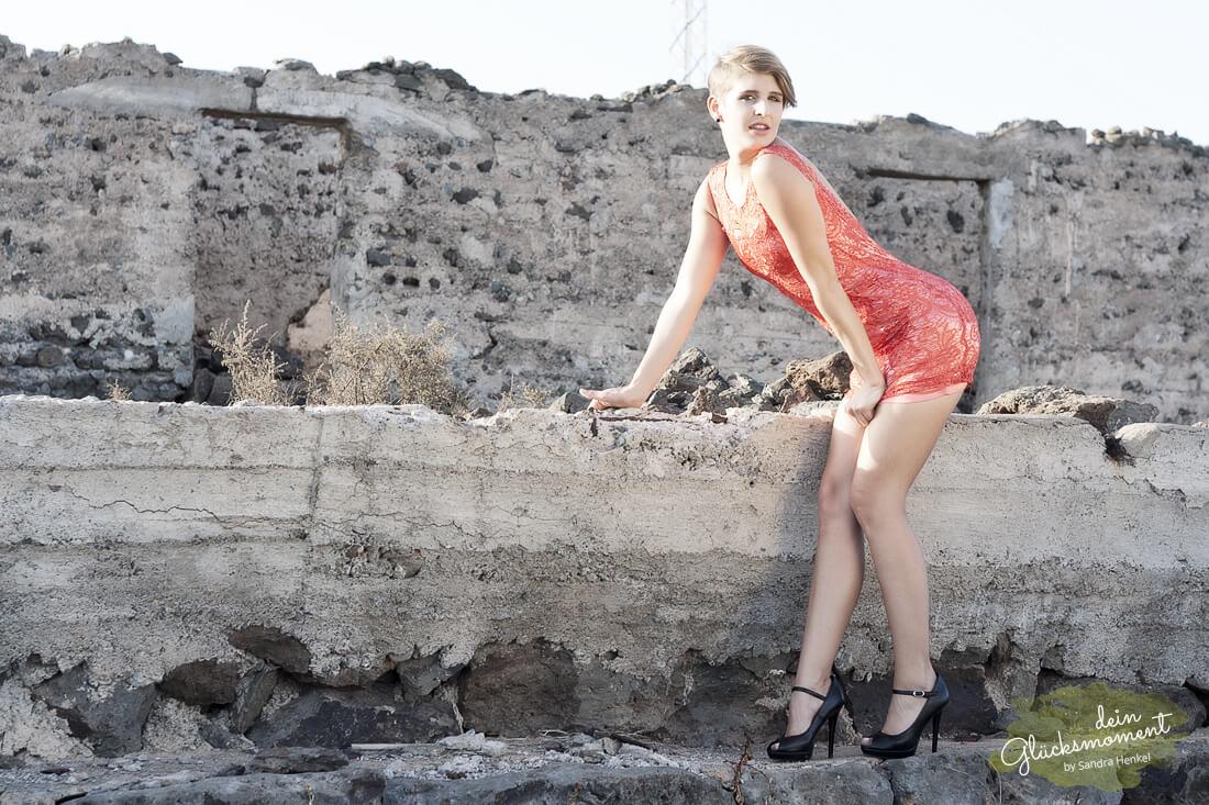 Spass in der Ruine und den Dünen - Einzelshooting  - Dünen Ruine